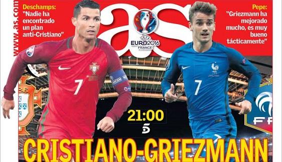 Cristiano Griezmann Eurocopa