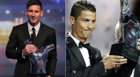 UEFA Best Player Messi y Cristiano ronaldo