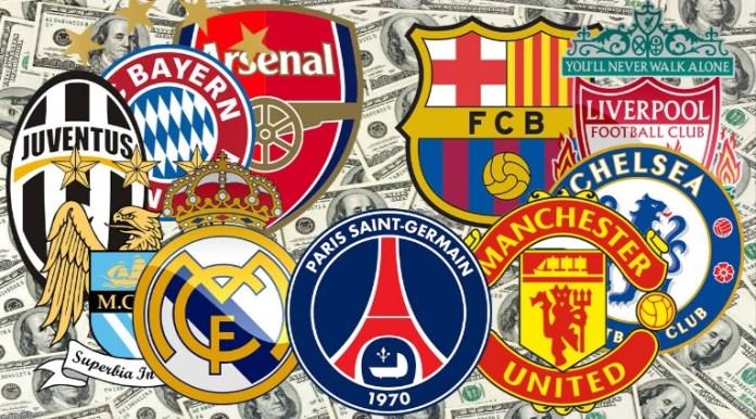 Las Plantillas de Fútbol mas caras del Mundo 2016