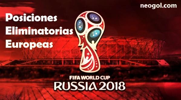 Eliminatorias Europa Rusia 2018 Tabla de Posiciones