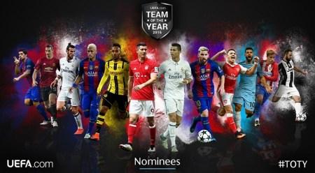 Once Ideal UEFA 2016 nominados