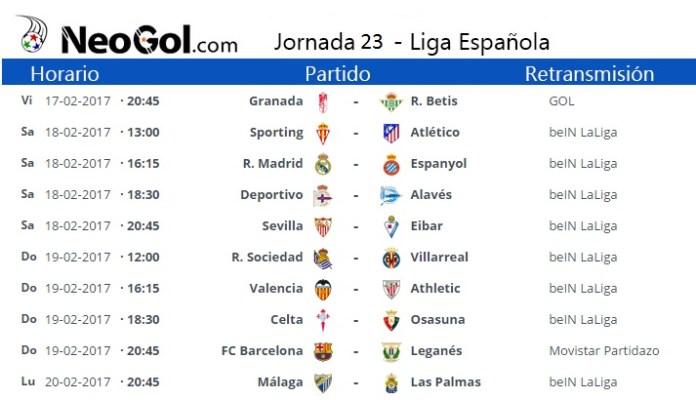 Jornada 23 Liga Española 2017