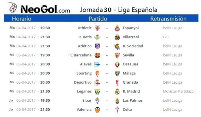 Jornada 30 Liga Española 2017