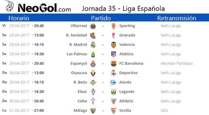 Jornada 35 Liga Española 2017