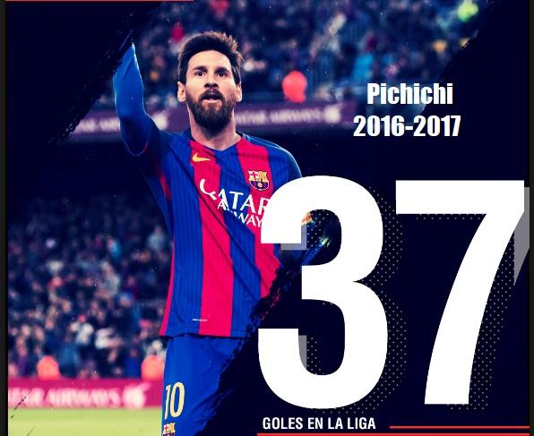 Leo Messi Pichichi de la Liga Española 2016-2017