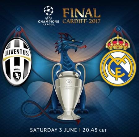 La final de la UEFA Champions 2017 se jugará en Cardiff (Gales) el sábado 3 de junio a las 20:45 hs entre la Juventus y el Real Madrid.
