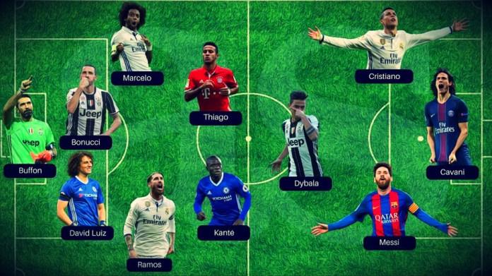 El once ideal del 2017 World Soccer