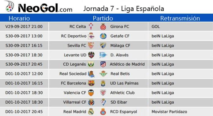 Jornada 7 Liga Española 2017