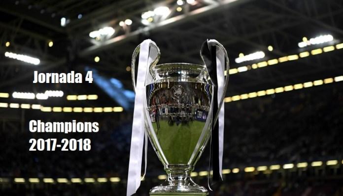 Partidos Jornada 4 Champions League 2017