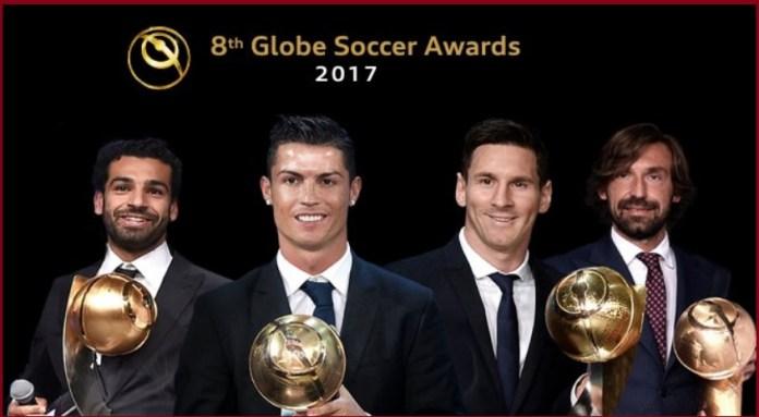 Cristiano Ronaldo Globe Soccer al Mejor Futbolista de 2017