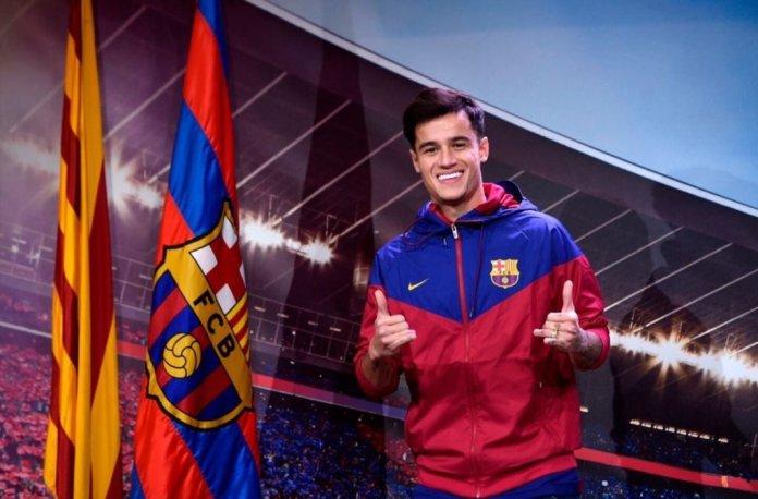Imagenes presentacion Coutinho Camp Nou