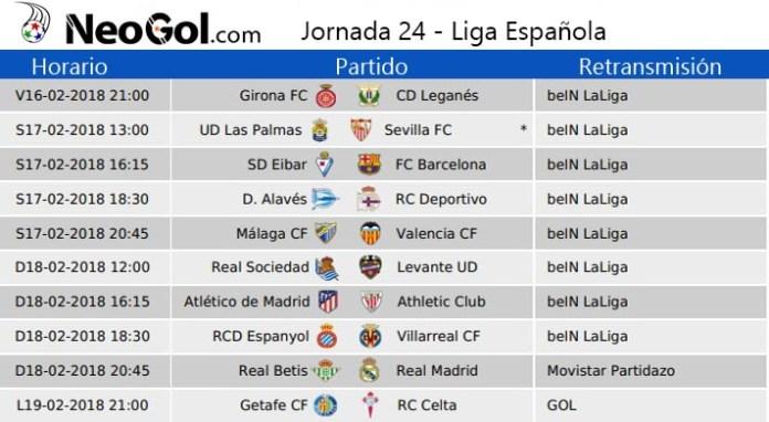 Jornada 24 Liga Española 2018