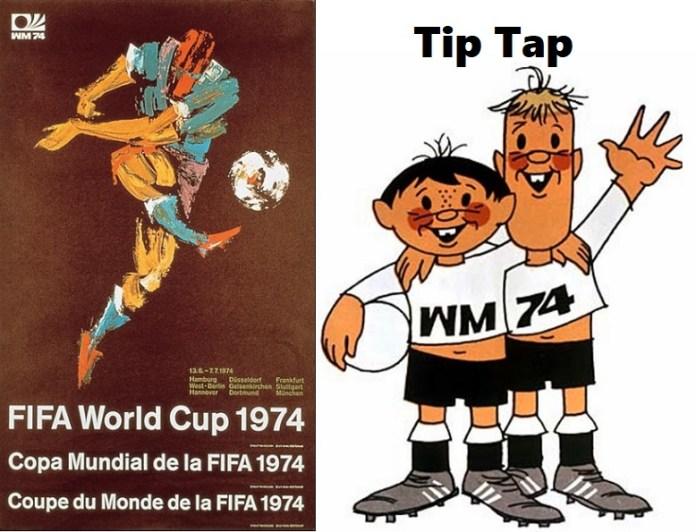 Logo y mascota del Mundial Alemania 1974: Tip Tap