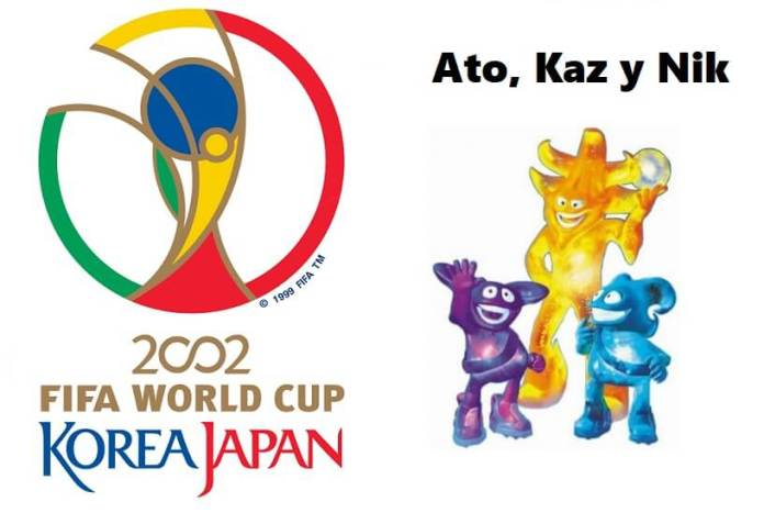 Logo y mascota del Mundial Corea-Japón 2002: Los Spheriks Ato, Kaz y Nik