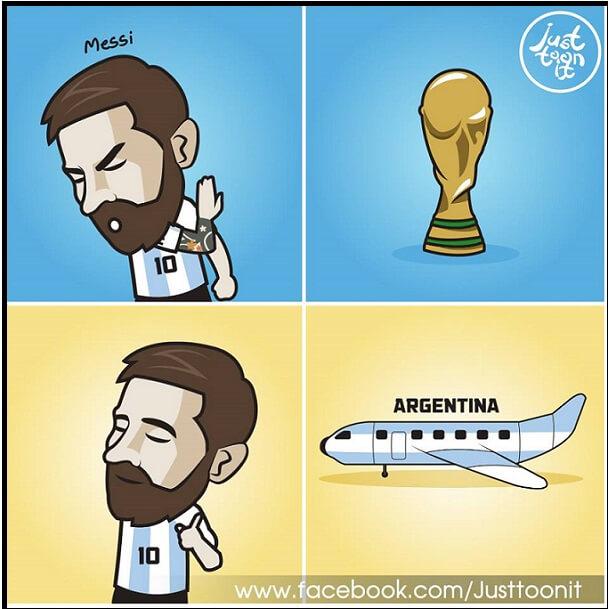 memes argentina croacia messi