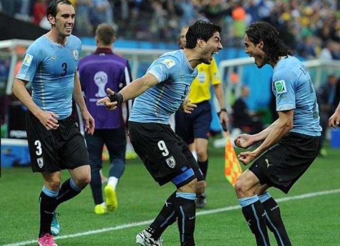 Cavani Suárez Godin Seleccion de Uruguay