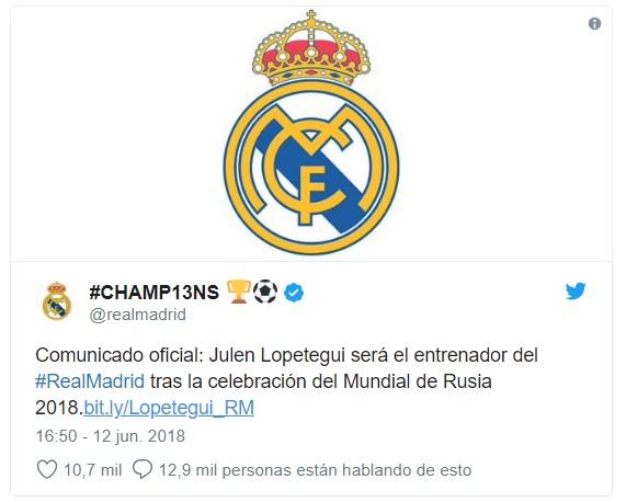 Julen Lopetegui Nuevo entrenador del Real Madrid