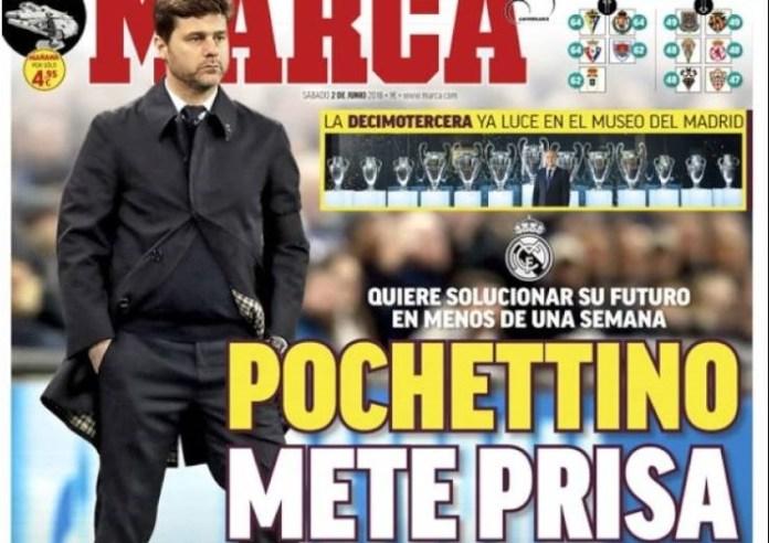 vPochettino mete prisa al Madrid