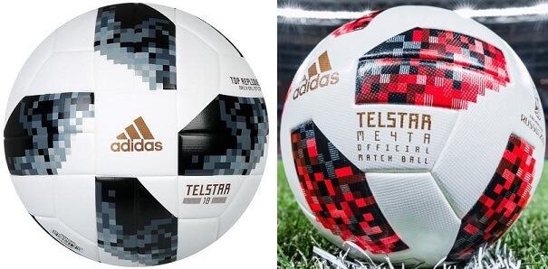 Balón MundialRusia 2018 telstar 18 y telstar mechta
