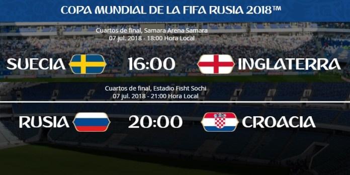 Alineaciones Suecia-Inglaterra y Rusia-Croacia