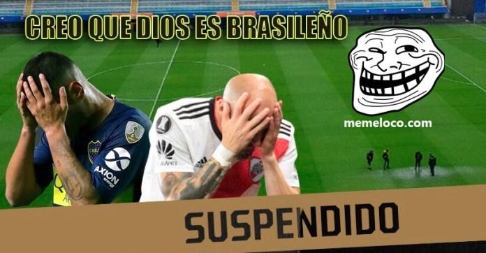 Memes Super Final Boca-River suspendido