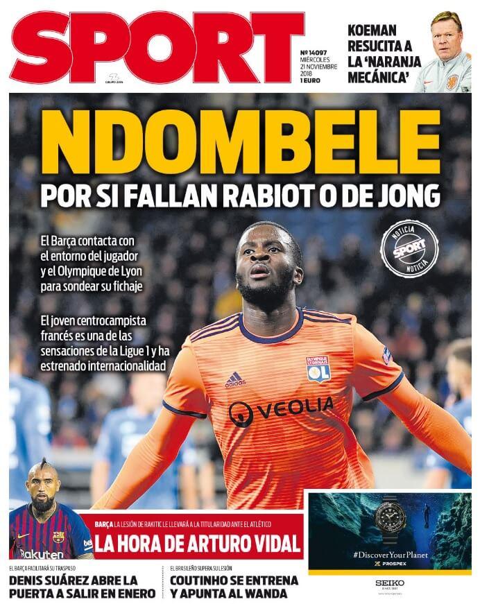 Portada Sport 21/11/2018