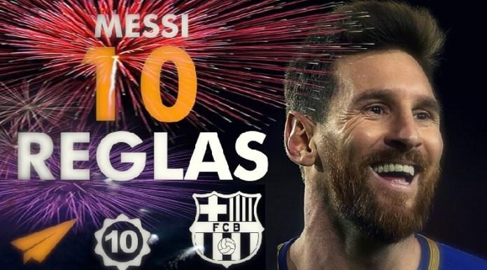 Leo Messi 10 reglas para el Éxito
