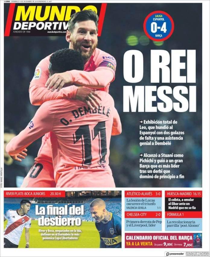 Portada Mundo Deportivo 9/12/2018