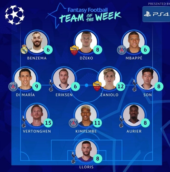 11 ideal Octavos Champions 2019