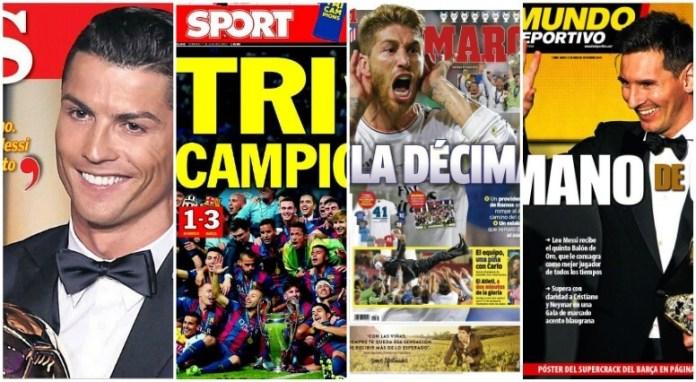 Portadas Diarios Deportivos españa