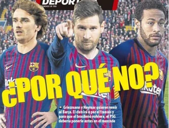 Portadas Deportivas 1/06/2019