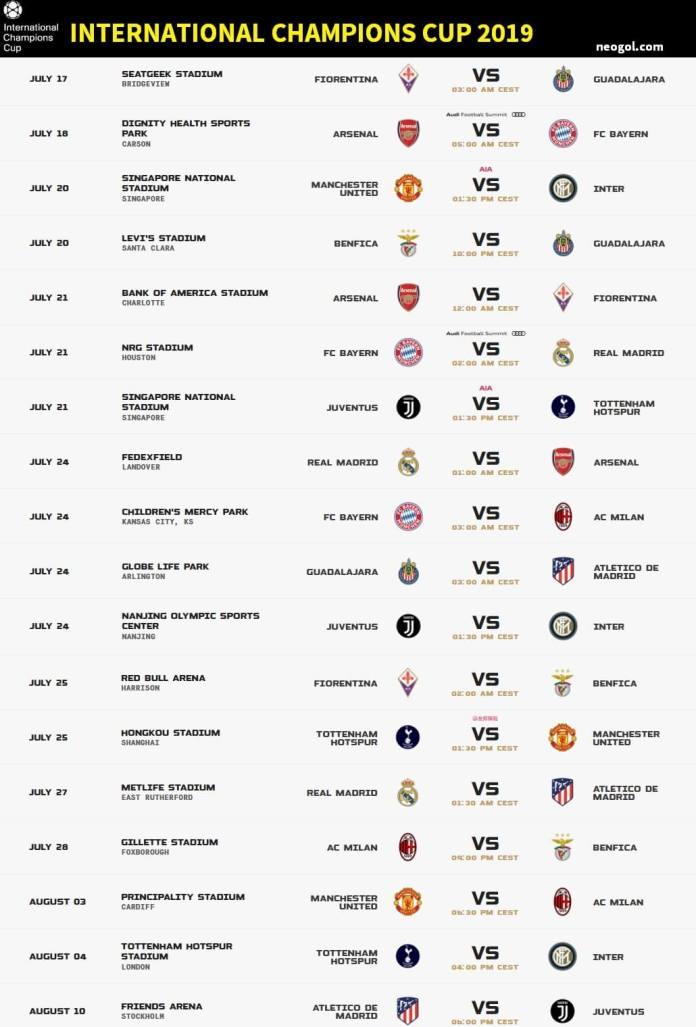 international champions cup 2019