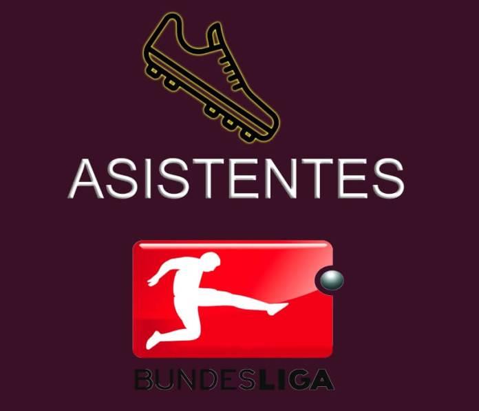 Máximos Asistentes Bundesliga 2020-2021