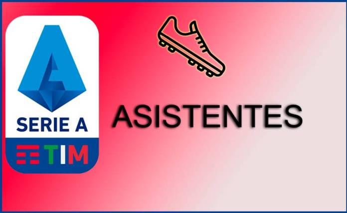 Máximos Asistentes Serie A 2020