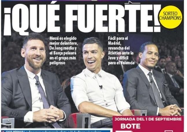 Portadas Deportivas 30/08/2019