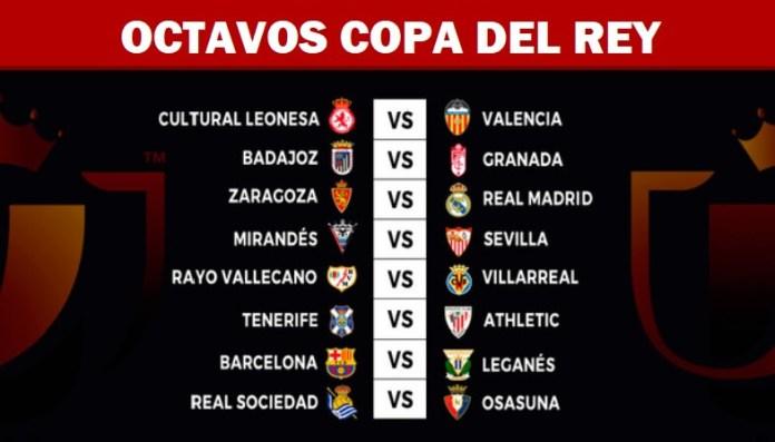 Sorteo Octavos Copa del Rey 2020