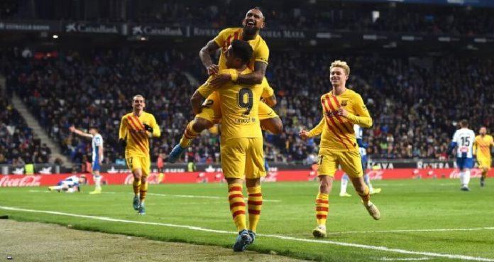 Espanyol 2-2 FC Barcelona arturo vidal
