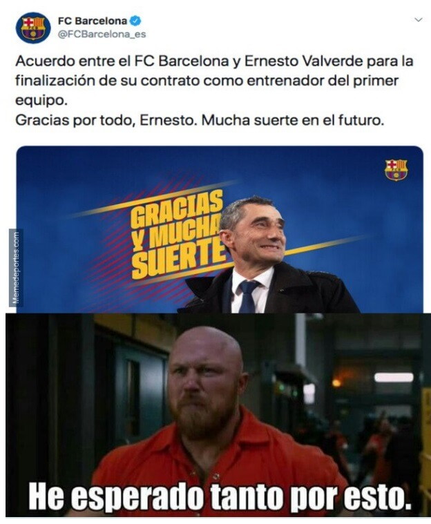 memes destitucion valverde del barça fc barcelona