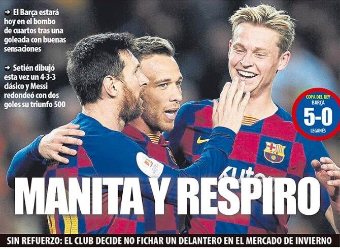 Portadas Diarios Deportivos Viernes 31/01/2020