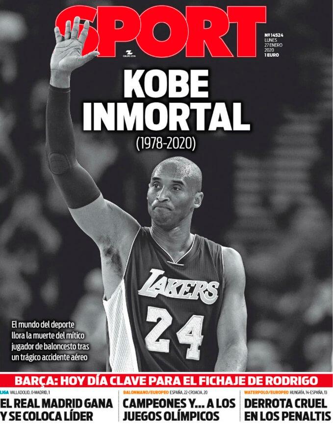 Portada Sport Muere Kobe Bryant