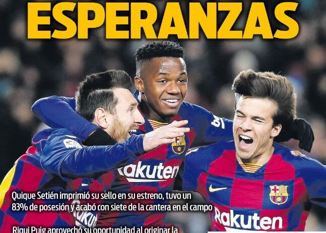 Portadas Diarios Deportivos Lunes 20/01/2020