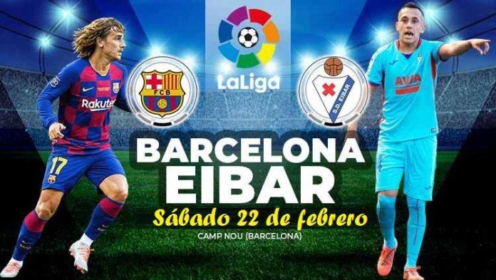 Alineación Barcelona-Eibar Jornada 25