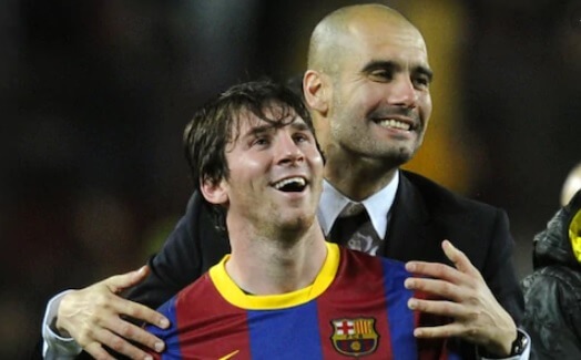 Messi y Pep Guardiola