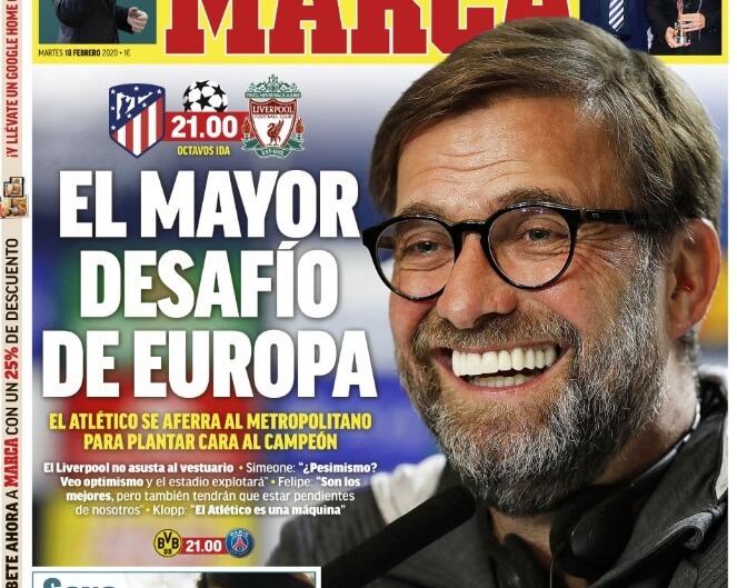 Portadas Diarios Deportivos Martes 18/02/2020