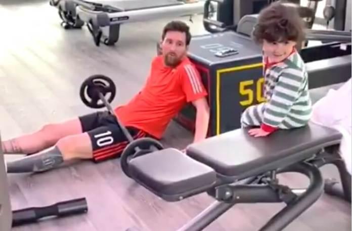 Así entrena Messi en la Cuarentena por Cornaviurs