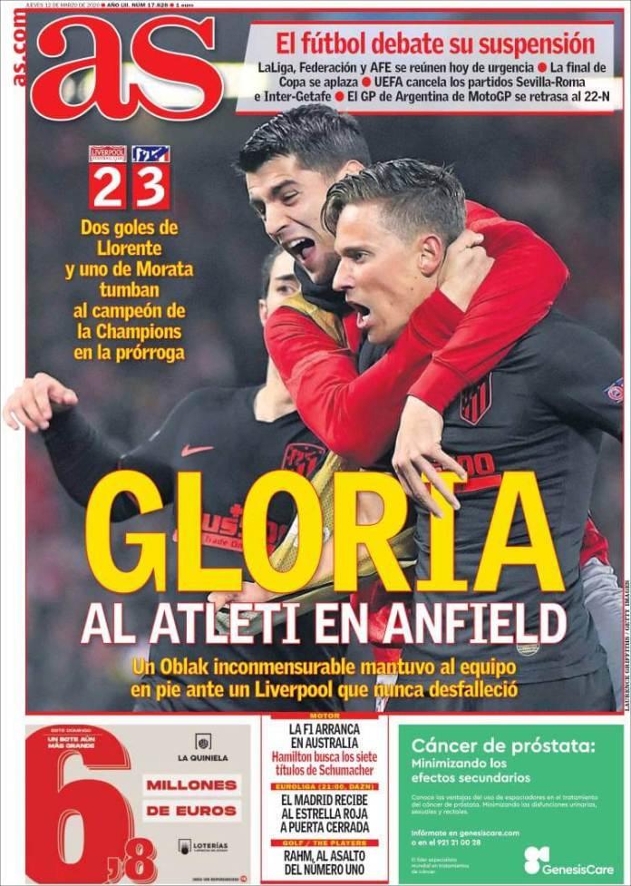 Portada Liverpool Atlético