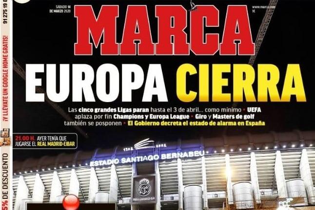 Portadas Diarios Deportivos Sábado 14/03/2020