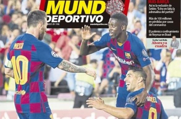 Portadas Diarios Deportivos Sábado 28