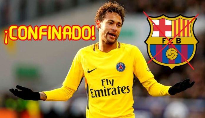 Neymar Confinado en el PSG ¿Adiós Barça?
