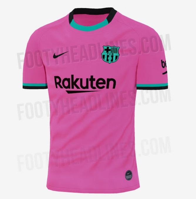 Camiseta Barcelona 2020-2021 Rosa Tercera Equipación